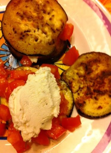 Eggplant Chèvre Sandwiches