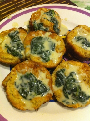 Creamed Spinach on Popovers